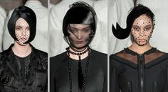 #StephenJones millinery collaborated with #ThomBrowne for his fall fashion 2015 runway show. Aren't these hats divine? #veils #veiledhats.