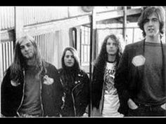 """""""Kurt, Chad Channing, Jason Everman and Krist Novoselic in March of 1989 by the Seattle waterfront."""" Heavier Than Heaven - A Biography of Kurt Cobain By: Charles R. Chad Channing, Band On The Run, Donald Cobain, Nirvana Kurt Cobain, Dave Grohl, Him Band, Foo Fighters, Hard Rock, Cool Bands"""