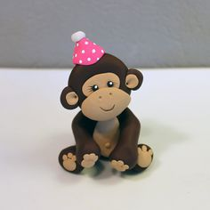 Custom Monkey Cake Topper for Birthday or Baby Shower by carlyace