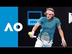 Roger Federer v Stefanos Tsitsipas third set highlights Australian Open, Roger Federer, Tennis Racket, Sports, Hs Sports, Sport