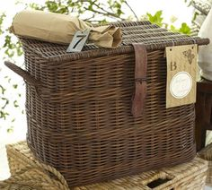 Such a sucker for a storage basket! Find it at Pottery Barn