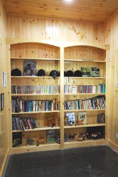 Built-in bookshelves make an excellent addition to the tack room or boarder's lounge to encourage riders to educate themselves more about their sport.