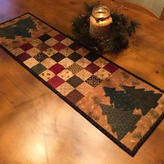 Christmas Table Runner / Winter Table Runner/ North Woods / Item # 1001