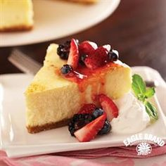 Top you favorite New York Style Cheesecake from Eagle Brand® with fresh berries for a festive Memorial Day dessert!