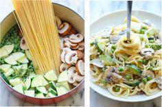 Výborný recept na pravé italské těstoviny, které uspokojí i ty nejnáročnější gurmány! Famózní krémové špagety s cuketou a žampióny!   ProSvět.cz
