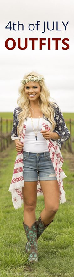 The best selection in 4th of July outfits! Follow the link for affordable and cute patriotic pieces!
