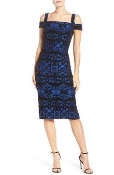Main Image - ECI Flocked Midi Dress