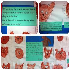 Descriptive writing of the bear from 'We're Going on a Bear Hunt'