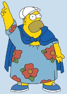 Homer Simpson in a moomoo!