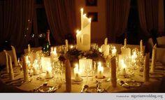 Nigerian wedding candle centerpiece
