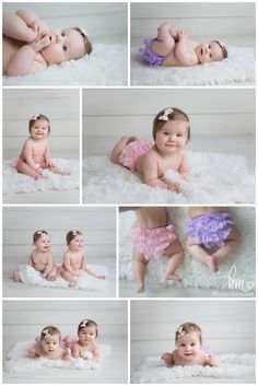 twin 6 month old girls - twin girls photography