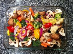Garlic Rosemary Oven Roasted Vegetables with Parmesan