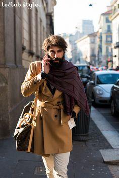 Menswear Street Style by Ángel Robles. Camel coat 80dbe5cd20a