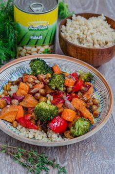 Quinoa cu legume si naut la cuptor - Din secretele bucătăriei chinezești Quinoa, Meat, Chicken, Food, Essen, Meals, Yemek, Eten, Cubs