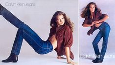 """Brooke Shields ad for Calvin Klein jeans, 1980. """"Do you want to know what comes between me and my Calvins? Nothing!"""""""