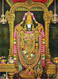 Lord Sri Venkateswara Swamy: Lord Sri Venkateswara Says Shiva Linga, Shiva Shakti, Indian Gods, Indian Art, Lovable Images, Lord Balaji, Lord Vishnu Wallpapers, Lord Krishna Images, Tanjore Painting