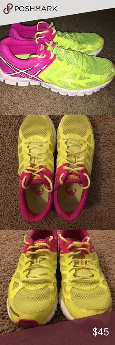 Asics Gel Lyte 33 Neon pink and highlighter yellow...very clean, beautiful shoes! Super lightweight and breathable. I purchased these on another site and paid much more for them than I'm asking. Unfortunately, they didn't work out. My loss is your gain. Asics Shoes Athletic Shoes
