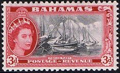 Bahamas 1954 Fishing Fleet SG205 Fine Mint SG 205 Scott 162 Other British Commonwealth Empire and Colonial Stamps Here