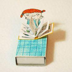 reading little girl - mathbox doll - Jenny Meilihove
