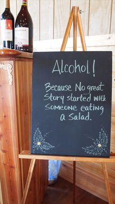 Great bar sign.  #ruralhill #weddingideas #rusticwedding