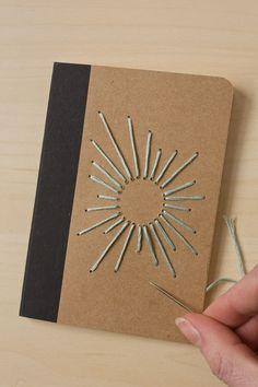 Sunburst Embroidered Notebook