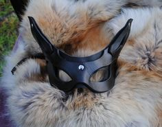 Hey, I found this really awesome Etsy listing at https://www.etsy.com/listing/83366340/onyx-imp-leather-mask-20