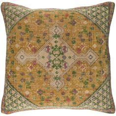"Rosalind Wheeler Marion Throw Pillow Size: 20"" H x 20"" W x 5"" D, Color: Green"