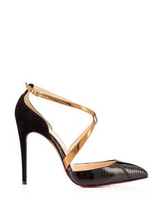 CHRISTIAN LOUBOUTIN #Maltaise 100 mm Watersnake Pumps