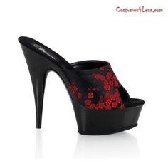 Delight-601-8, 5 3/4'' Stiletto Heel Platform Slide Shoe at Costumes4Less.com