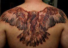 Gorgeous realistic hawk tattoo *****