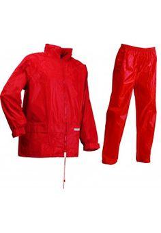 Lyngsøe Rainwear Regenset rood (Maat 3XL, 4XL, XXL, XL, M, L, S, XS) - Regenpakken Red Leather, Leather Jacket, Rain Wear, Jackets, Fashion, Studded Leather Jacket, Down Jackets, Moda, Leather Jackets