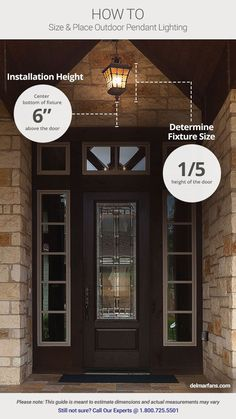 Outdoor Lighting Ideas & Design Tips: Add Curb Appeal with Front Door Lights | DelMarFans.com