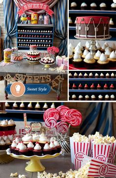 CUPCAKE BAR & Popcorn for movie