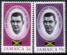 Jamaica 1967 Sangster Memorial Issue Set Fine Mint SG 262 3 Scott 261 2 Other West Indies and British Commonwealth Stamps HERE!
