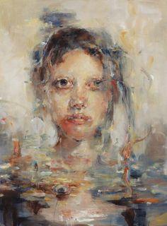 Śūnyatā (Dissolution of Self)  By Jaclyn Alderete #art #painting #water