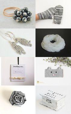 White and Grey by CrochetKnitt on Etsy--Pinned+with+TreasuryPin.com