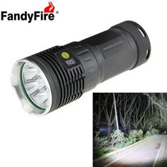 FandyFire 7-LED XM-L T6 6500lm High Bright Rechargeable LED Flashlight - Silver + Grey (4 x 18650). Find the cool gadgets at a incredibly low price with worldwide free shipping here. FandyFire 7-LED XM-L T6 Rechargeable LED Flashlight - Silver + Grey, 18650 Flashlights, . Tags: #Lights #Lighting #Flashlights #LED #Flashlights #18650 #Flashlights