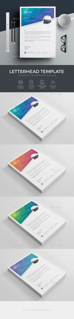#Letterhead - #Stationery Print Templates Download here:  https://graphicriver.net/item/letterhead/20256109?ref=alena994