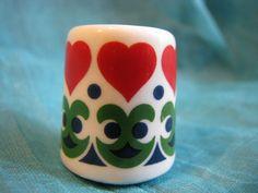 1 x vintage Herzchen Kerzenhalter  Mini  Weihnachten von everglaze