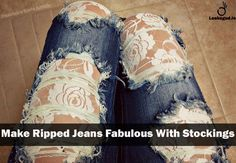 Easy DIY trick to style too much Ripped Jeans