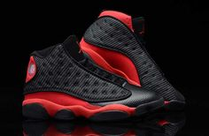 quality design 50d15 55d77 Nike Air Jordan 13 Mens Supper AAA Black White Red Shoes