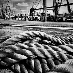 Ropes - Port of Dorum, Lower Saxony, Germany