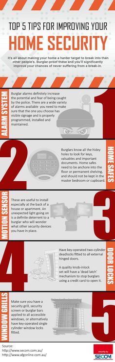 Top 5 Tips for Improving Your Home Security Infographic