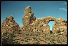 ID: K14662<br>Turret Arch rock formation, Arches National Park, Utah