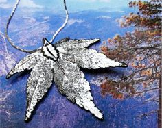 Real Leaf Jewelry, Japanese Maple Leaf Necklace Pendant, Sterling Silver Dipped, Natures leaves - Edit Listing - Etsy