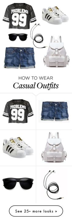 """Keep it casual !"" by dhritikamdar on Polyvore featuring J.Crew and adidas Originals"