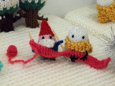 """Gnomes and snowmen discover that friendship is almost as good as fighting.    One of the final scenes in """"Gnomes vs. Snowmen"""" by Anna Hrachovec."""