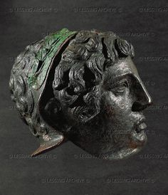 ISRAEL 1ST-3RD CE Roman parade helmet (profile) Bronze, from Judea Israel Museum(IDAM), Jerusalem, Israel