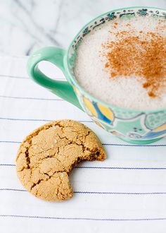 The best ginger cookies ever. Crispy on the outside, soft and chewy on the inside. Filled with chewy crystallized ginger. The perfect gingersnap cookie.