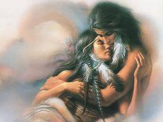 Zwei #Liebende halten einander.